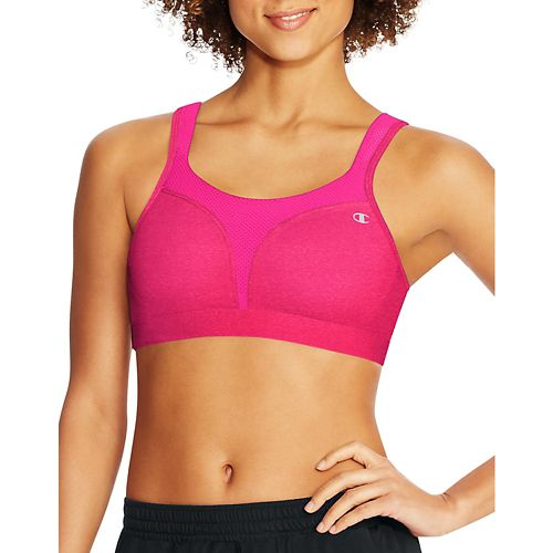 Womens Champion Spot Comfort Full Support Sports Bra - Pop Art Pink Heather 38C