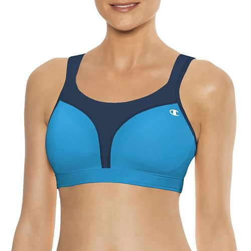 Womens Champion Spot Comfort Full Support Sports Bra - Circuit/Navy 36C