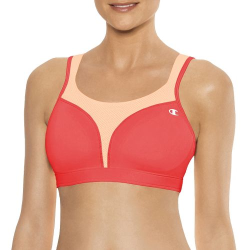 Womens Champion Spot Comfort Full Support Sports Bra - Lipstick/Dayglo Orange 40D