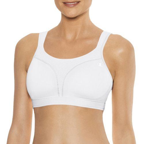 Womens Champion Spot Comfort Full Support Sports Bra - White 42DD