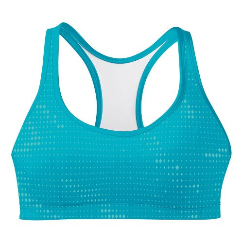 Womens Champion Printed Shape T Back Sports Bra - Aqua Blue 36C