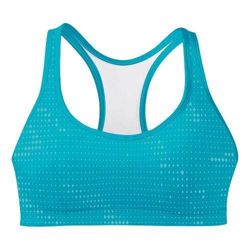 Womens Champion Printed Shape T Back Sports Bra - Aqua Blue 38B