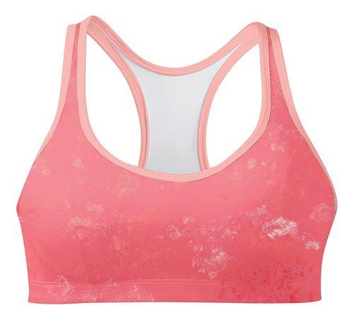 Womens Champion Printed Shape T Back Sports Bra - Orange Burst/Melon 34C