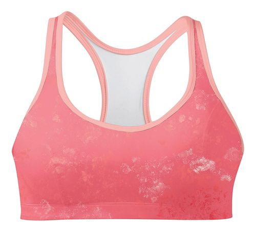 Womens Champion Printed Shape T Back Sports Bra - Orange Burst/Melon 36C