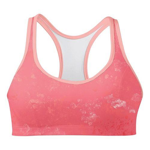 Womens Champion Printed Shape T Back Sports Bra - Orange Burst/Melon 34B