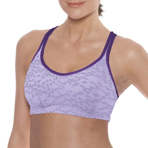 Womens Champion Printed Shape T Back Sports Bra - Purple 34B
