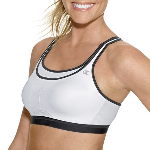 Womens Champion All-Out Support Sports Bra - White/Black 36D