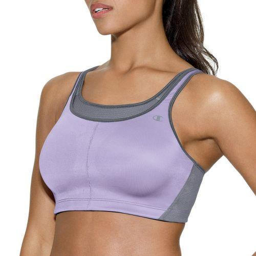 Womens Champion All-Out Support II Sports Bra - Purple/Mist 34DD