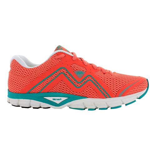 Womens Karhu Fluid3 Fulcrum Running Shoe - Coral/Blue 9.5