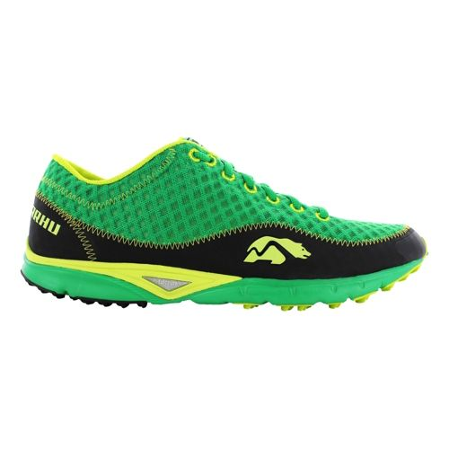Mens Karhu Flow Trail Fulcrum Trail Running Shoe - JB Green/Scream 9