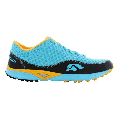 Womens Karhu Flow Trail Fulcrum Trail Running Shoe - Blue Atoll/Gold 10.5