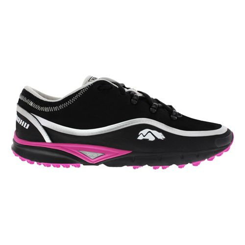 Womens Karhu Flow Trail WP Fulcrum Trail Running Shoe - Black/Orchid 7