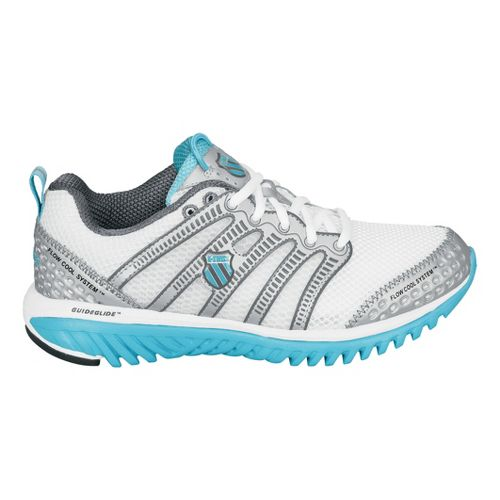 Womens K-SWISS Blade-Light Run Running Shoe - White/Light Blue 9