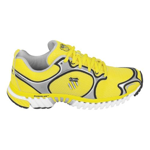Womens K-SWISS Kwicky Blade-Light Running Shoe - Yellow/Silver 7.5