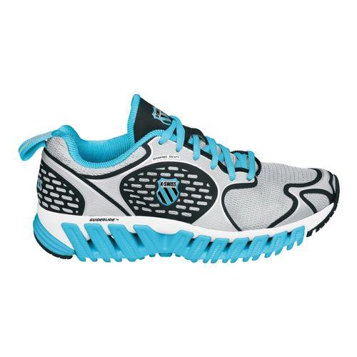 Womens K-SWISS Blade-Max Glide Running Shoe - Silver/Blue 6.5