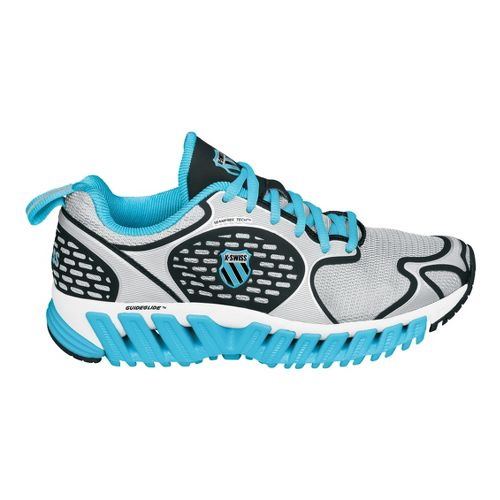 Womens K-SWISS Blade-Max Glide Running Shoe - Silver/Blue 8