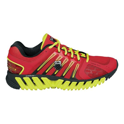 Mens K-SWISS Blade-Max Stable Running Shoe - Red/Lime 10.5