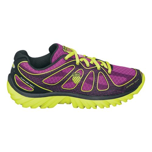 Womens K-SWISS Blade-Light Run II Running Shoe - Purple/Yellow 7.5
