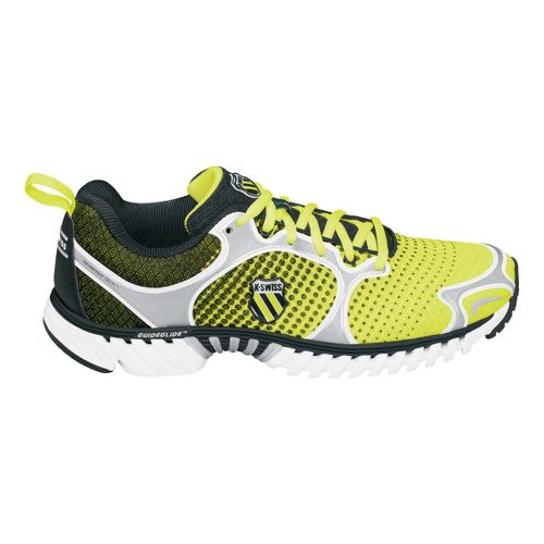 Mens K-Swiss Kwicky Blade-Light Neutral Running Shoe - Neon Citron/Black Dot Fade 10