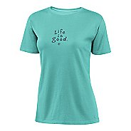 Womens Life Is Good Crusher Tee Short Sleeve Non-Technical Tops