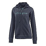 Womens Life Is Good Softwash Zippity Warm-Up Hooded Jackets