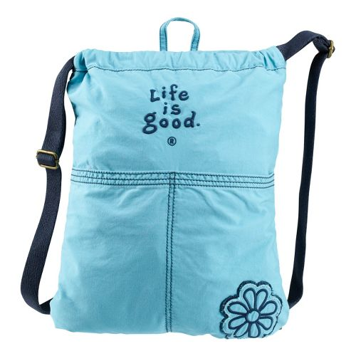 Life Is Good Essential Cinch Sack Bags - Surfer Blue