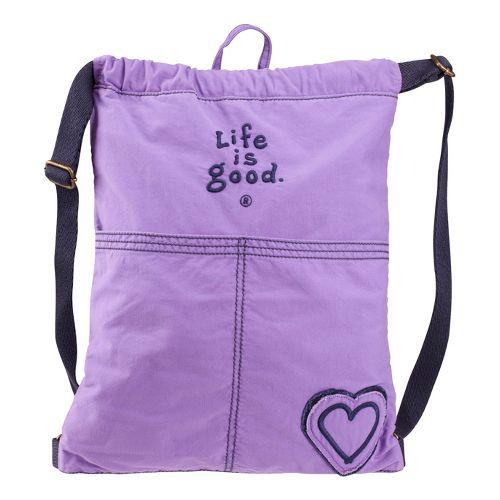 Life Is Good Essential Cinch Sack Bags - Soft Purple