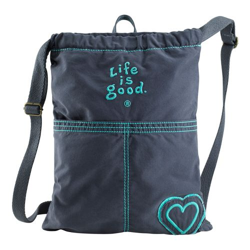 Life Is Good Essential Cinch Sack Bags - True Blue