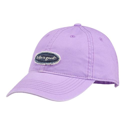 Womens Life Is Good LIG Tattered Oval Chill Cap Headwear - Soft Purple