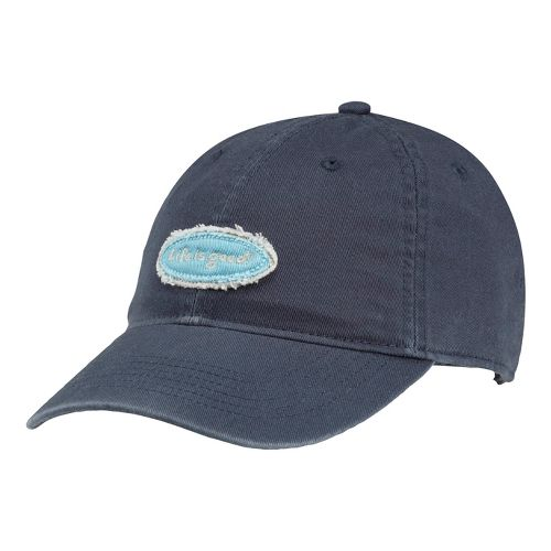 Womens Life Is Good LIG Tattered Oval Chill Cap Headwear - True Blue