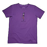 Womens Life Is Good Crusher Love Running Short Sleeve Non-Technical Tops