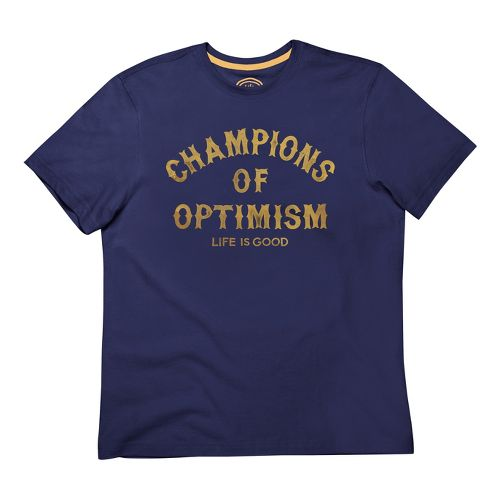 Mens Life Is Good LIG Creamy Tee Short Sleeve Non-Technical Tops - Champions M