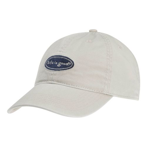 Mens Life Is Good LIG Classic Oval Chill Cap Headwear - Bone