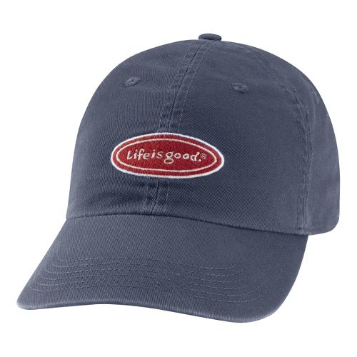 Mens Life Is Good LIG Classic Oval Chill Cap Headwear - True Blue