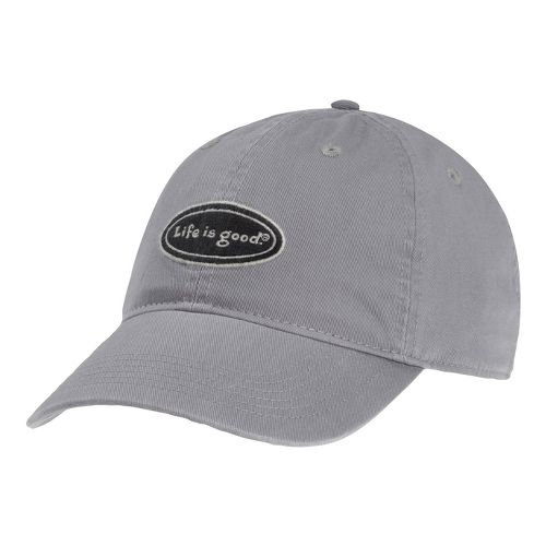 Mens Life Is Good LIG Classic Oval Chill Cap Headwear - Winter Gray