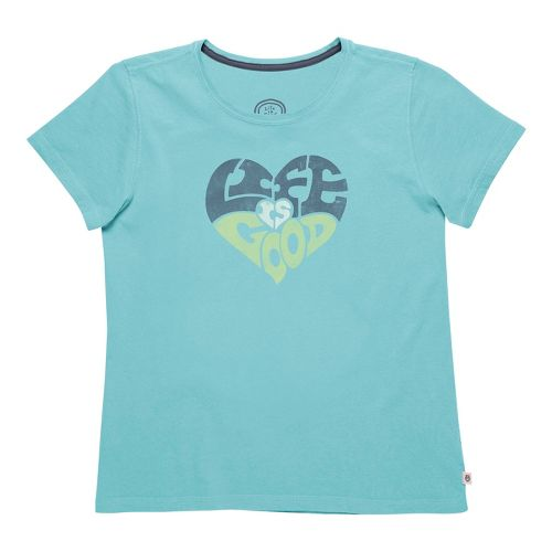 Womens Life Is Good Creamy Tee Short Sleeve Non-Technical Tops - Surfer Blue M