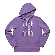 Womens Life Is Good Go-to Zip Hoodie Warm-Up Hooded Jackets
