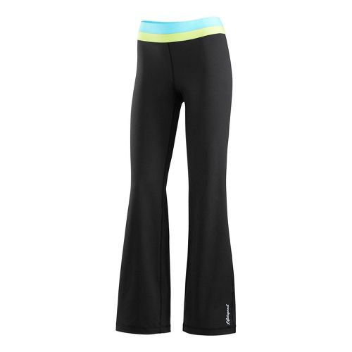 Womens Life Is Good Fitness Full Length Pants - Night Black XS