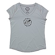 Womens Life Is Good Tech Vee Long May You Run Short Sleeve Technical Tops