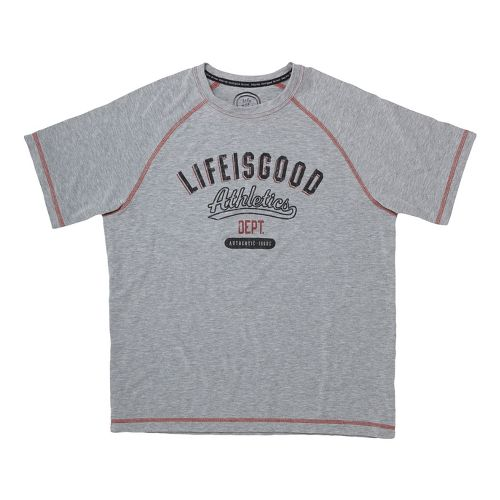 Mens Life Is Good Tech Tee Athletic Dept Short Sleeve Technical Tops - Heather Grey ...