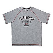 Mens Life Is Good Tech Tee Athletic Dept Short Sleeve Technical Tops