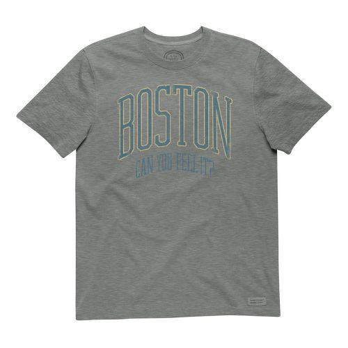 Mens Life Is Good Crusher Boston Can you Feel It Short Sleeve Non-Technical Tops - ...