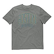 Mens Life Is Good Crusher Boston Can you Feel It Short Sleeve Non-Technical Tops