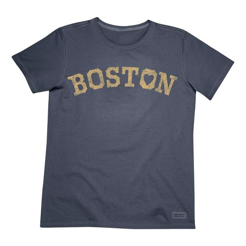 Mens Life Is Good Crusher Love Boston Short Sleeve Non-Technical Tops - True Blue S ...