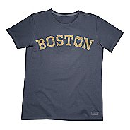 Mens Life Is Good Crusher Love Boston Short Sleeve Non-Technical Tops