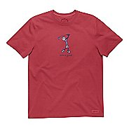 Mens Life Is Good Crusher Go Long Golf Short Sleeve Non-Technical Tops