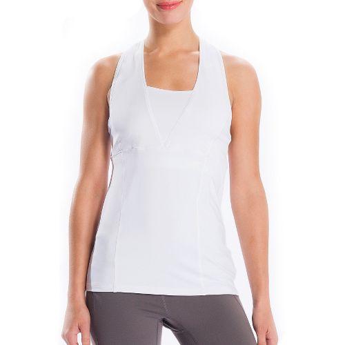 Womens Lole Silhouette Tank Top Sport Top Bras - White XL