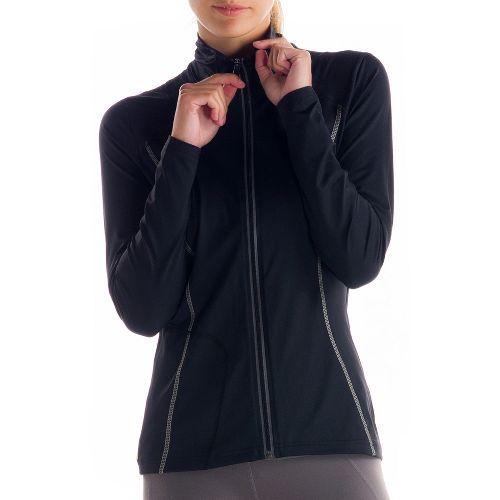 Womens Lole Essential Warm-Up Unhooded Jackets - Black XL