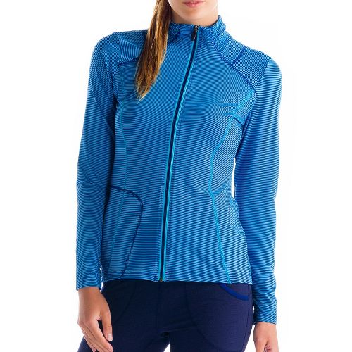 Womens Lole Essential Warm-Up Unhooded Jackets - Blue L