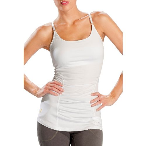 Womens Lole Breathe Tank Sport Top Bras - White XS